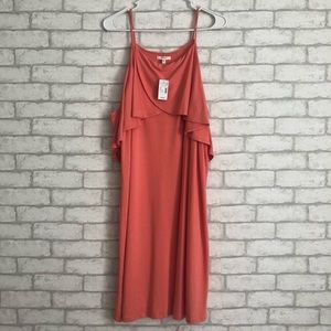 NWT! MAURICES CORAL COLD SHOULDER DRESS